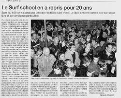 Le Surf School en a repris pour 20 ans