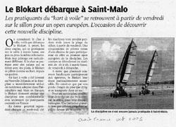 Le Blokart débarque à Saint-Malo