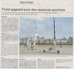 ticket sport a st malo