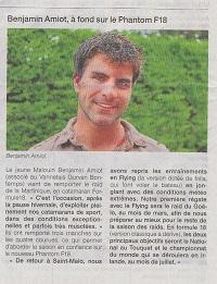 benjamin amiot : champion de france 2013 et vainqueur du raid des corsaires