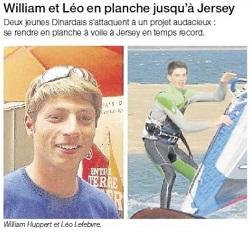 william et léo en planche jusqu'a jersey