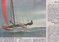 benjamin amiot sur son bateau volant